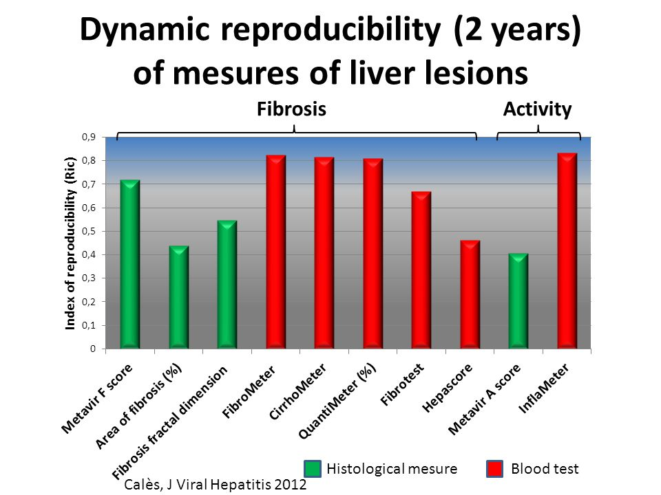 Dynamic reproducibility (2 years) of mesures of liver lesions