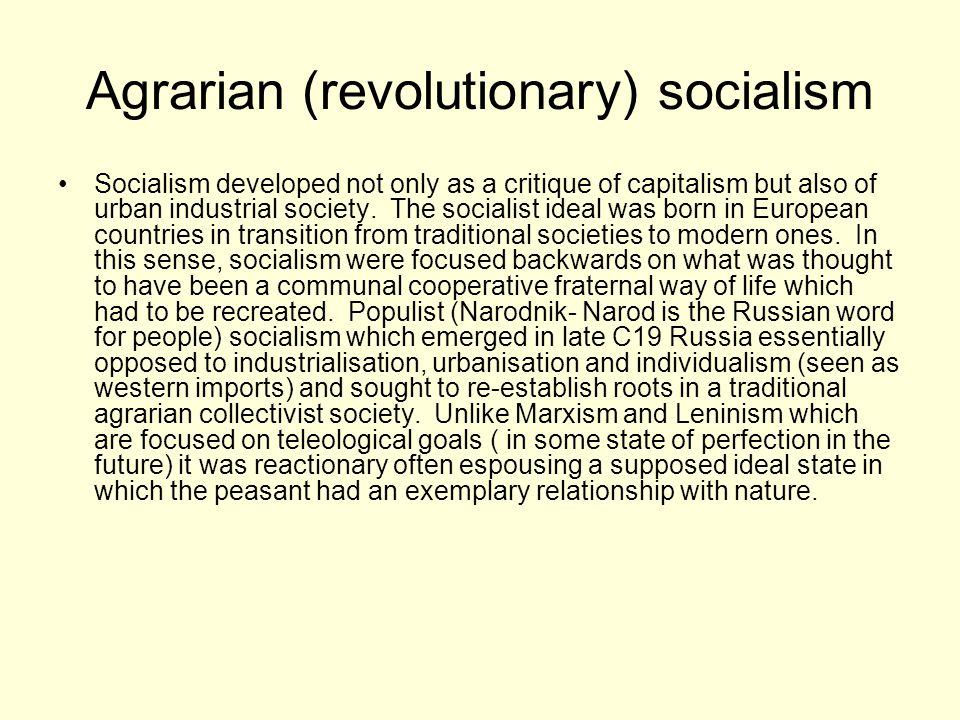 Agrarian (revolutionary) socialism
