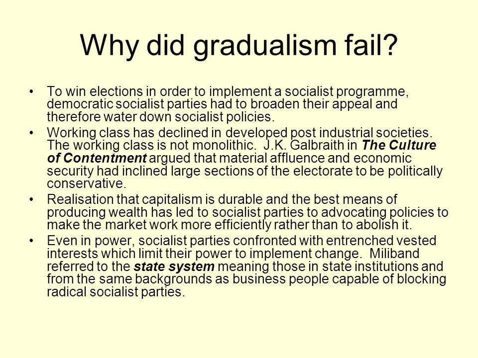 Why did gradualism fail