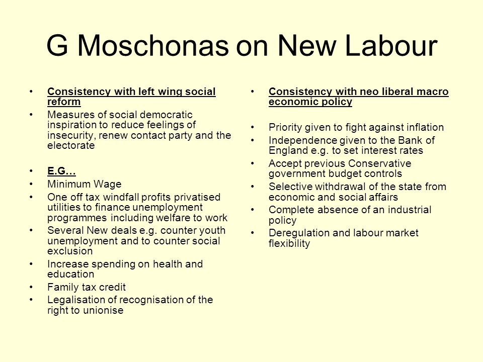 G Moschonas on New Labour