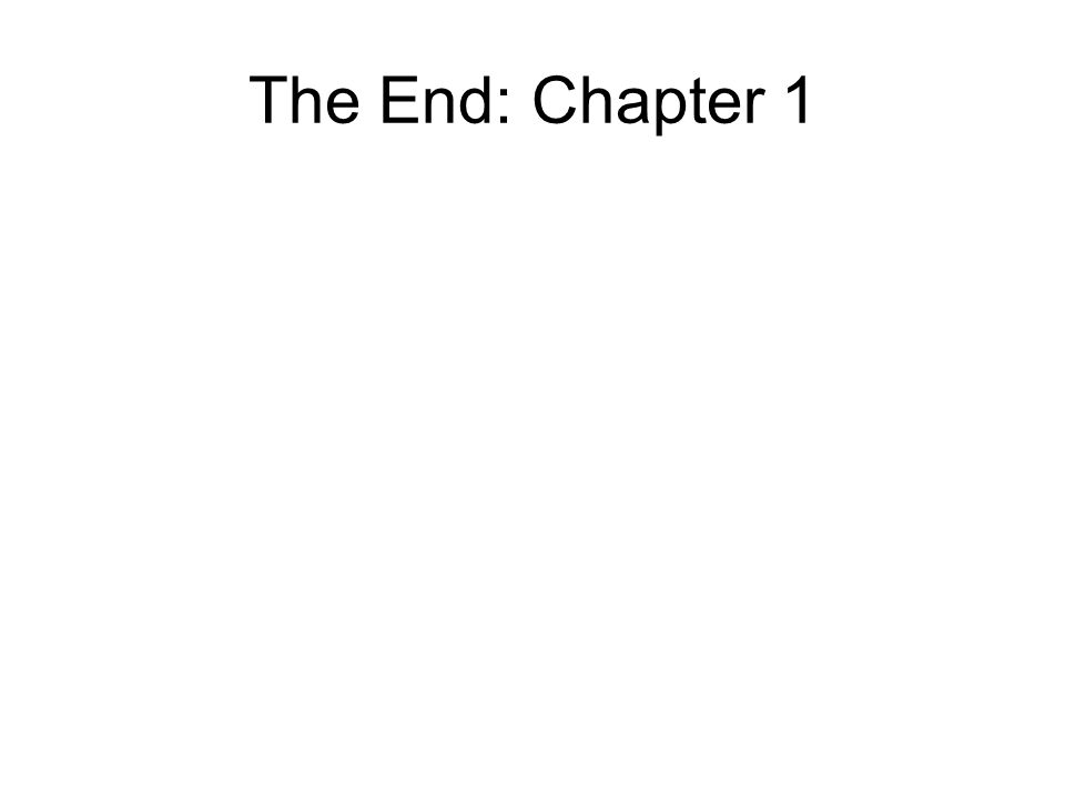 The End: Chapter 1
