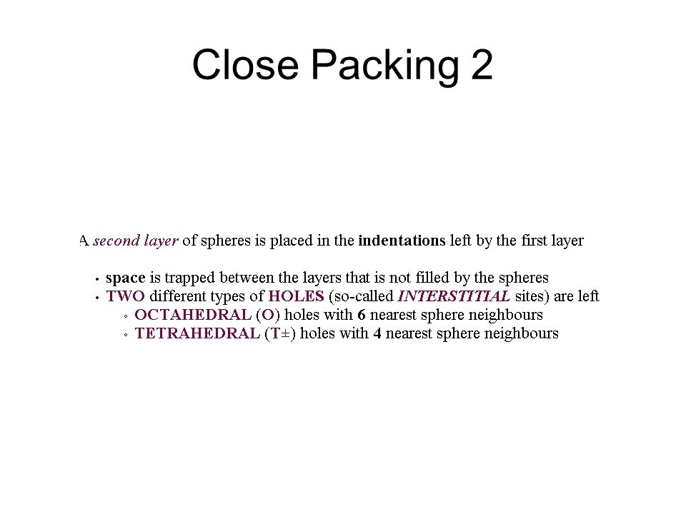 Close Packing 2