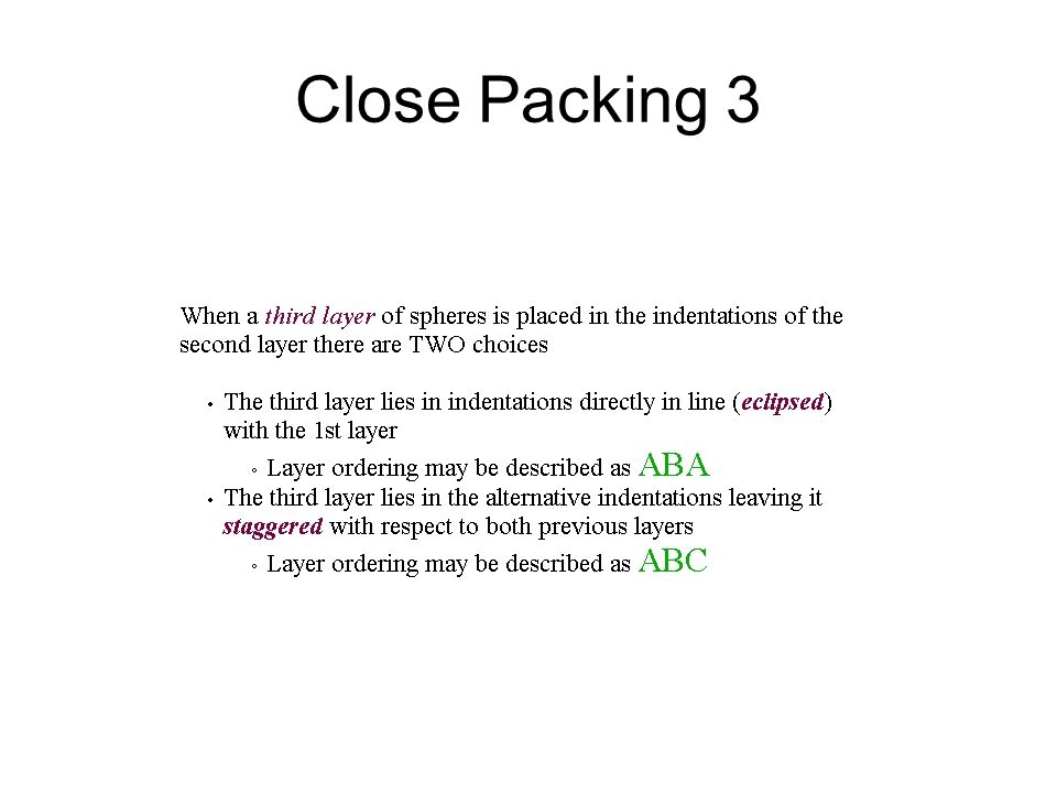 Close Packing 3