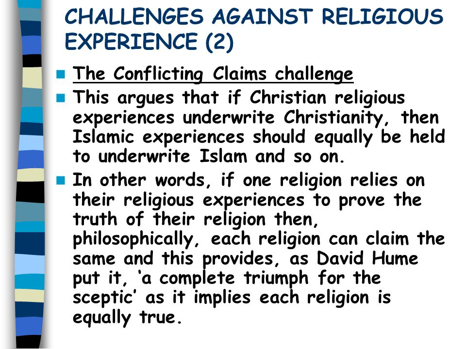 CHALLENGES AGAINST RELIGIOUS EXPERIENCE (2)