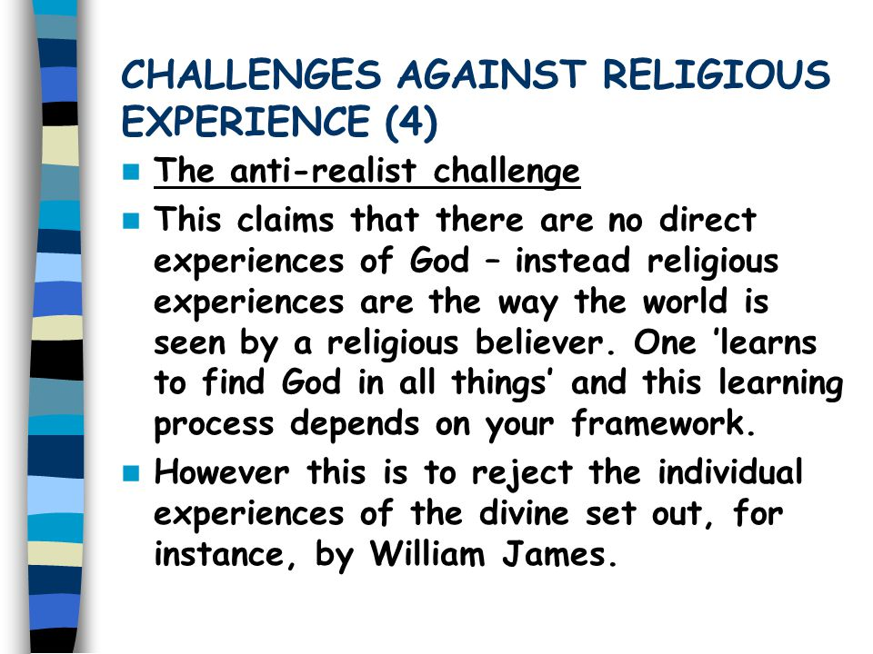 CHALLENGES AGAINST RELIGIOUS EXPERIENCE (4)