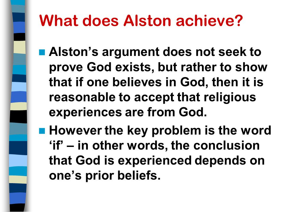 What does Alston achieve