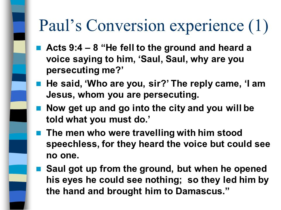 Paul's Conversion experience (1)