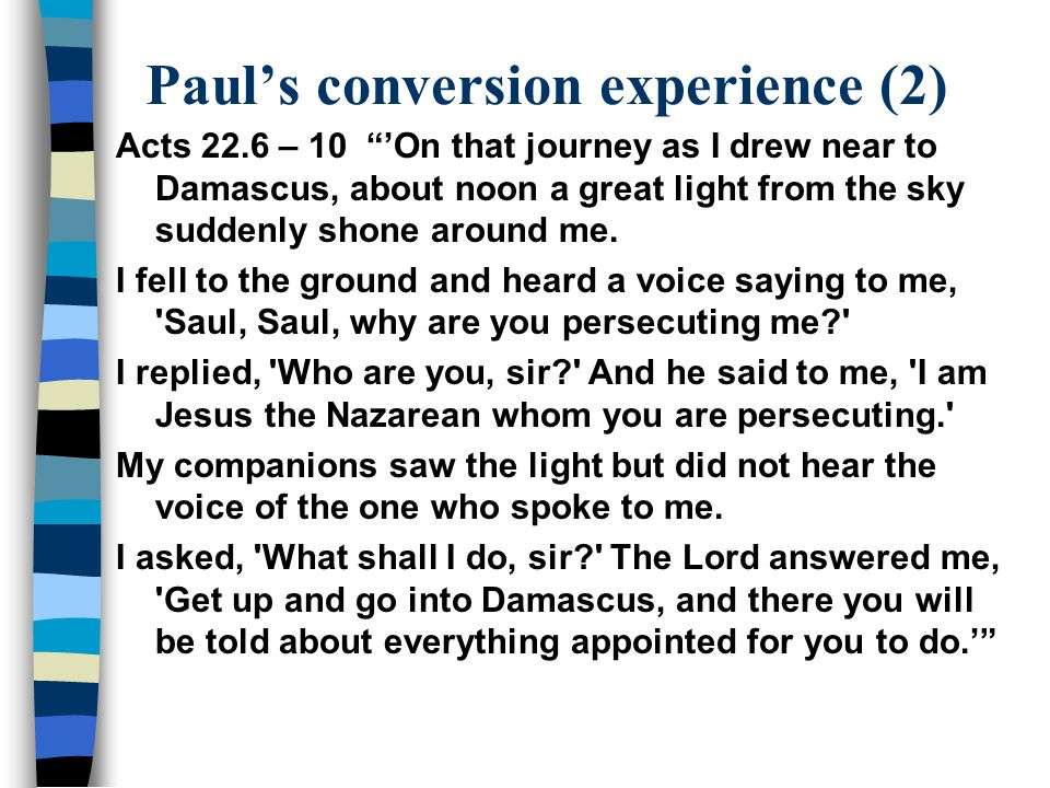 Paul's conversion experience (2)