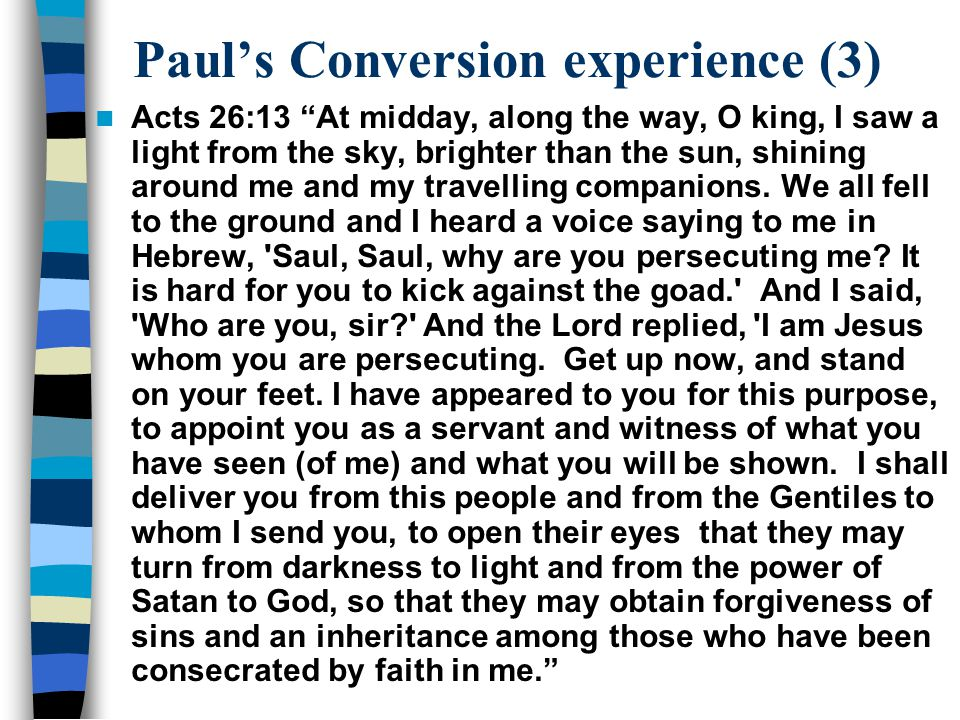 Paul's Conversion experience (3)