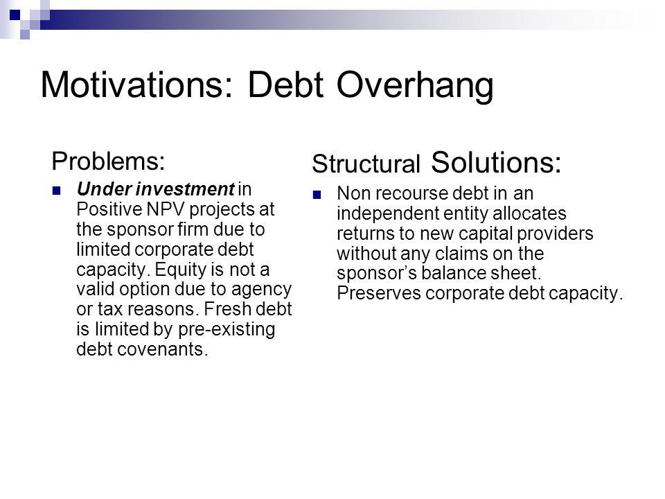 Motivations: Debt Overhang