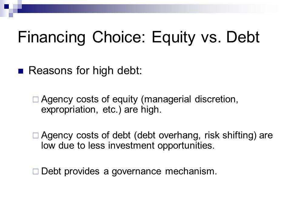 Financing Choice: Equity vs. Debt