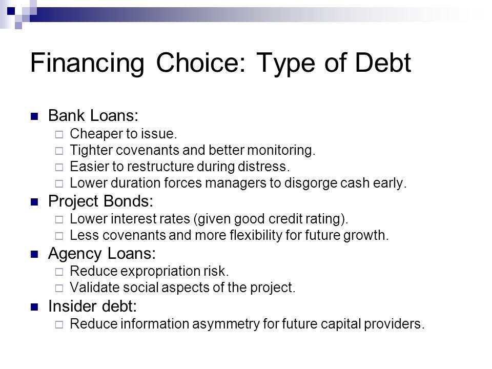 Financing Choice: Type of Debt