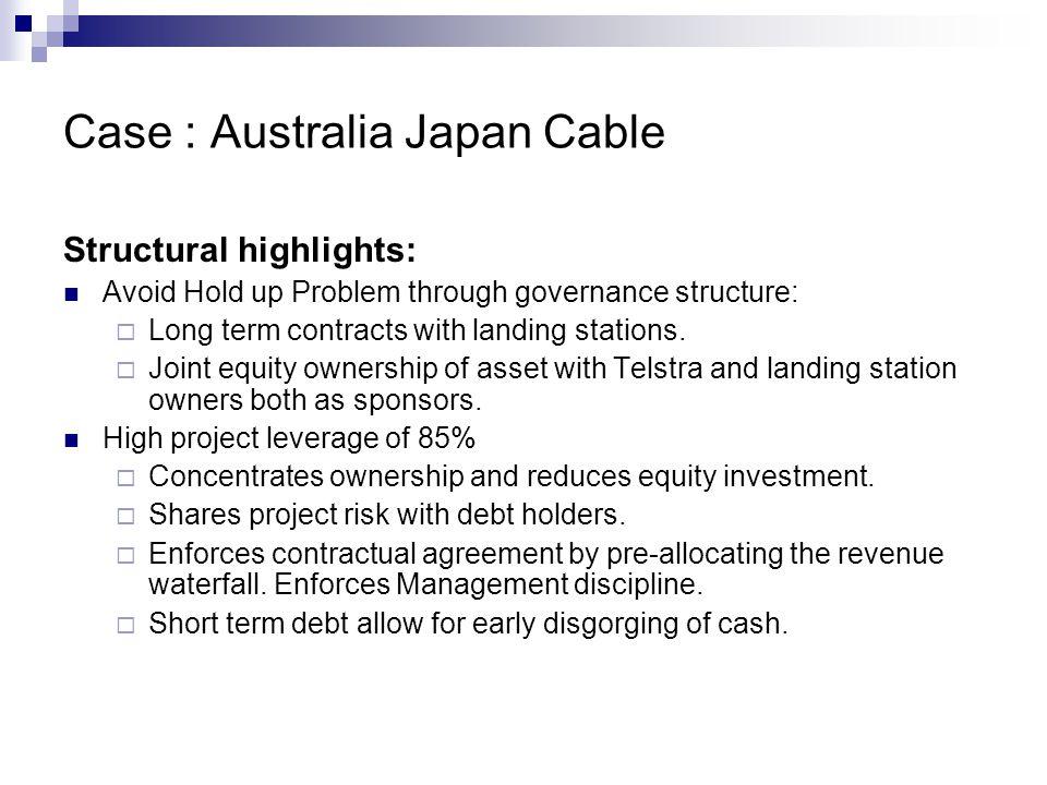 Case : Australia Japan Cable