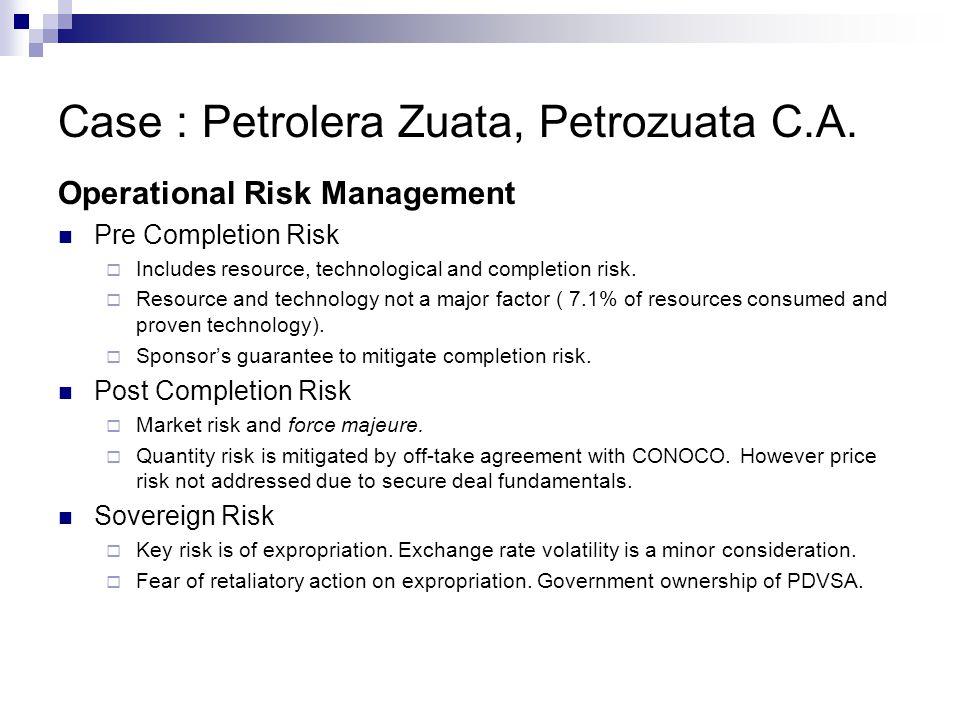 Case : Petrolera Zuata, Petrozuata C.A.