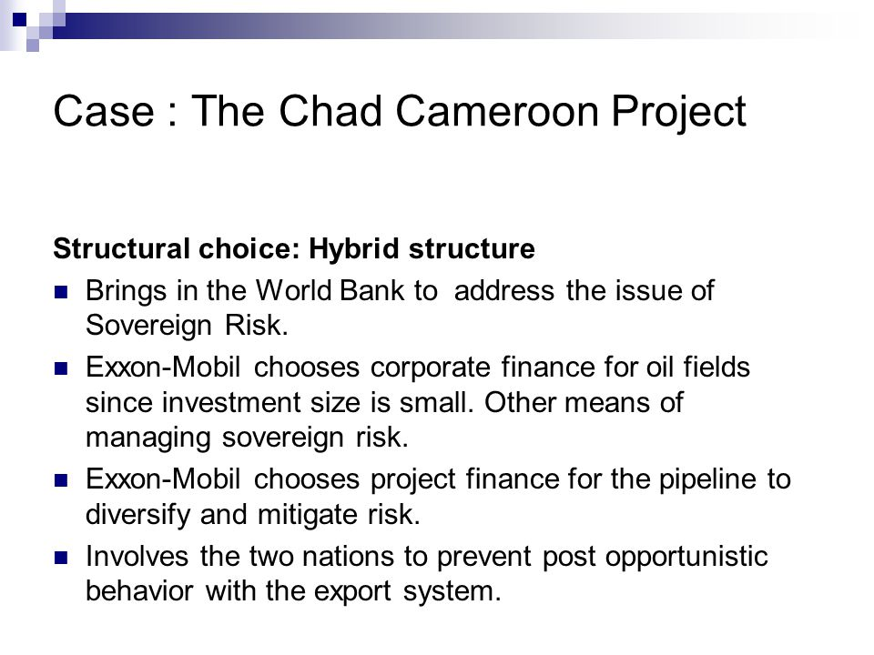 CHAD-CAMEROON PETROLEUM DEVELOPMENT AND PIPELINE …