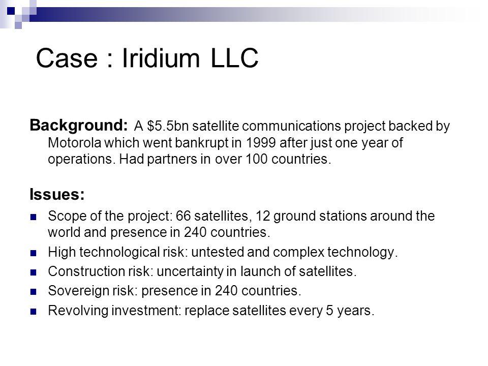 Case : Iridium LLC