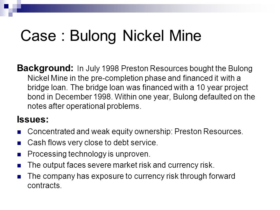Case : Bulong Nickel Mine