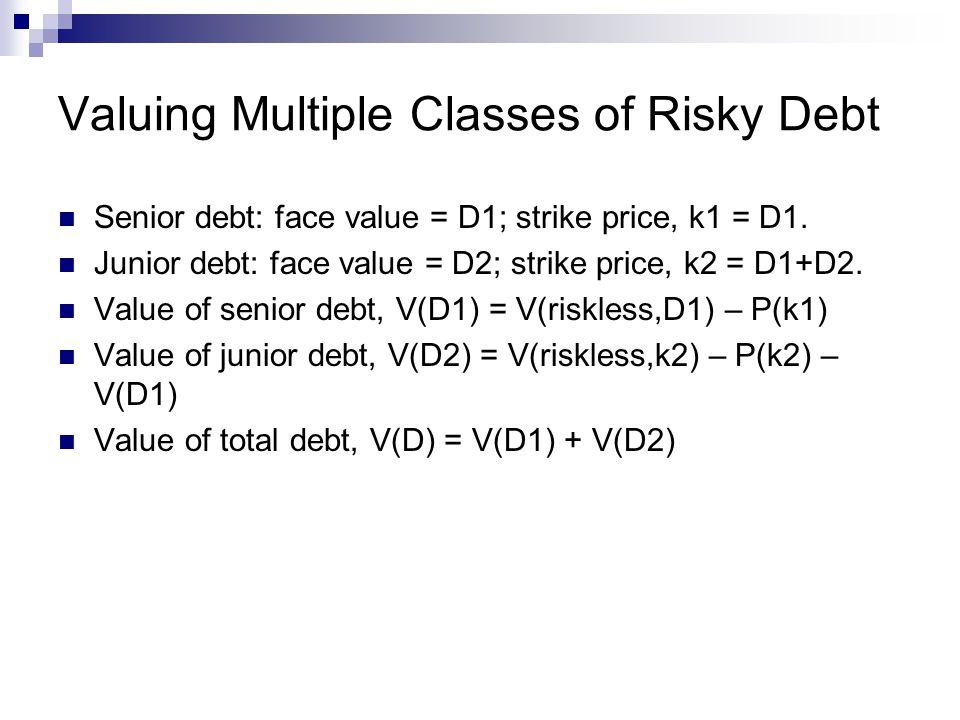 Valuing Multiple Classes of Risky Debt