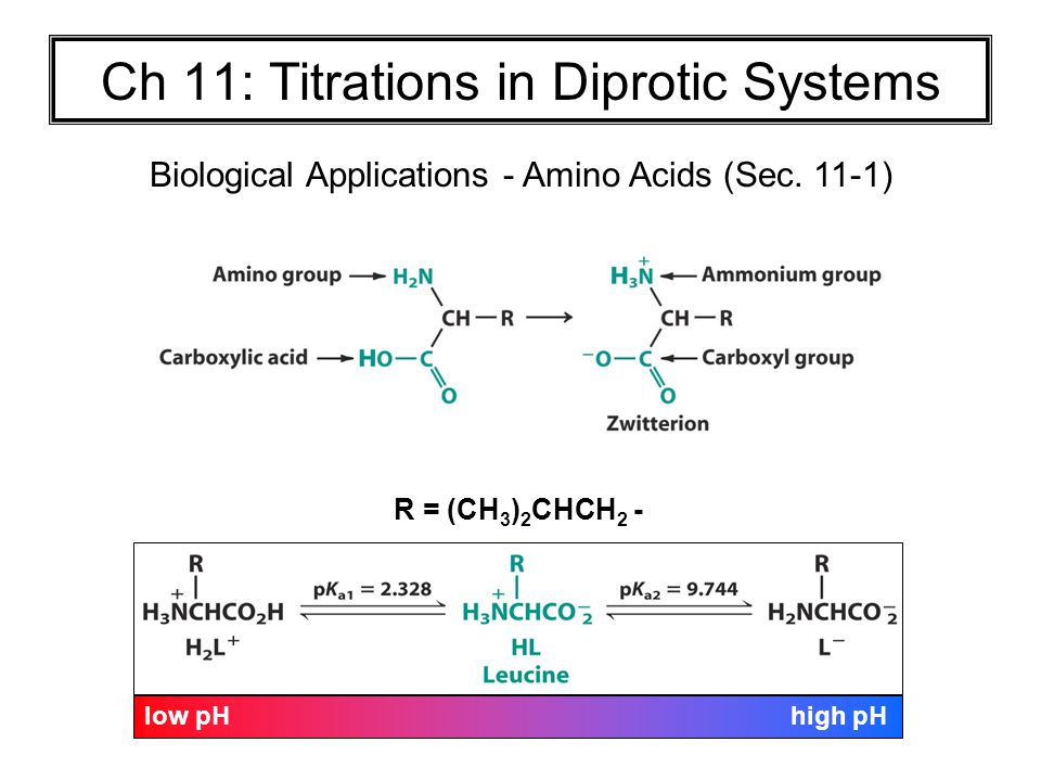 Ch 11: Titrations in Diprotic Systems