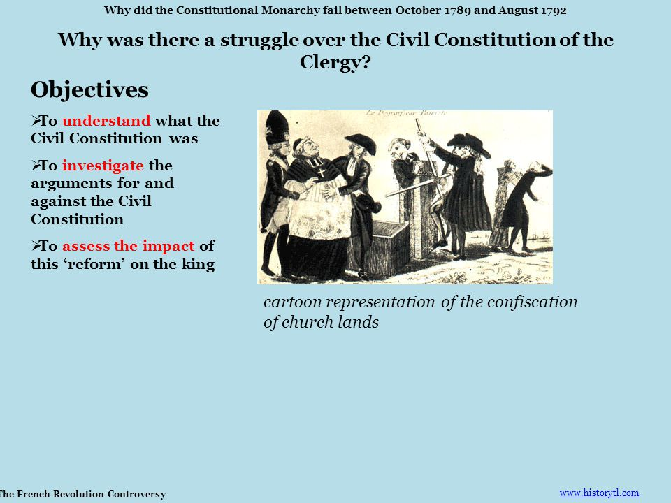 Why did the Constitutional Monarchy fail between October 1789 and August 1792