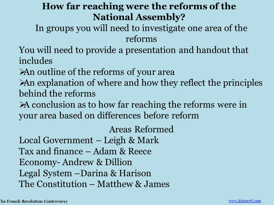 How far reaching were the reforms of the National Assembly