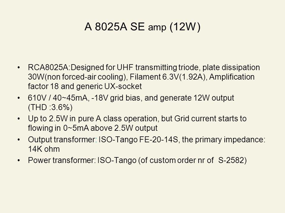 A 8025A SE amp (12W)
