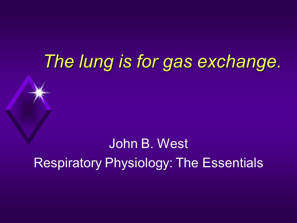 The lung is for gas exchange.