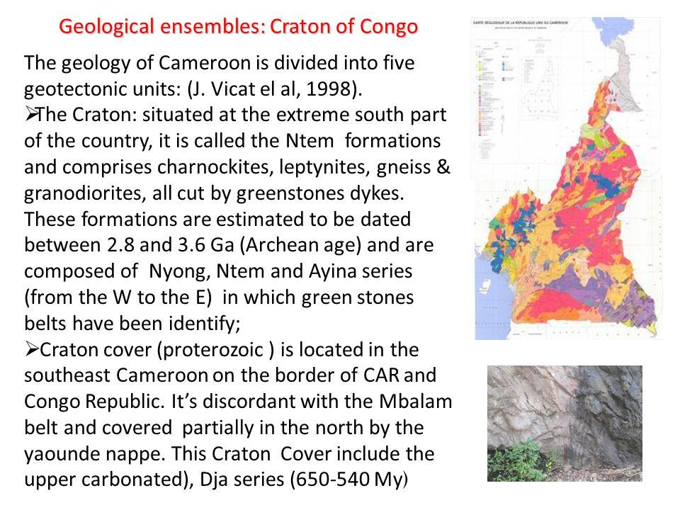 Geological ensembles: Craton of Congo