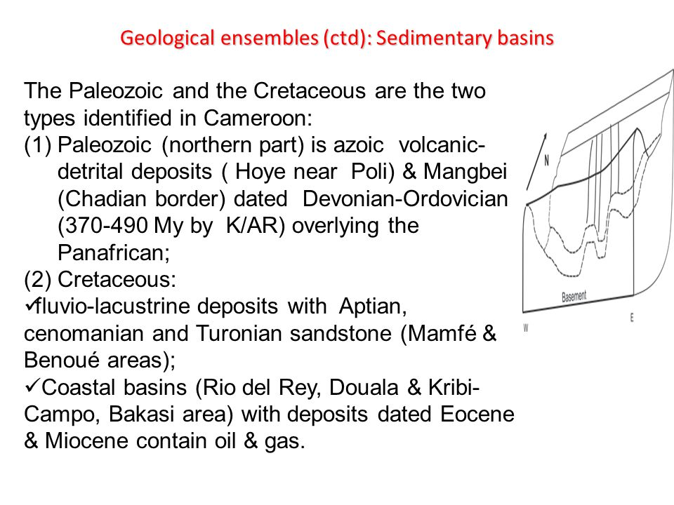 Geological ensembles (ctd): Sedimentary basins