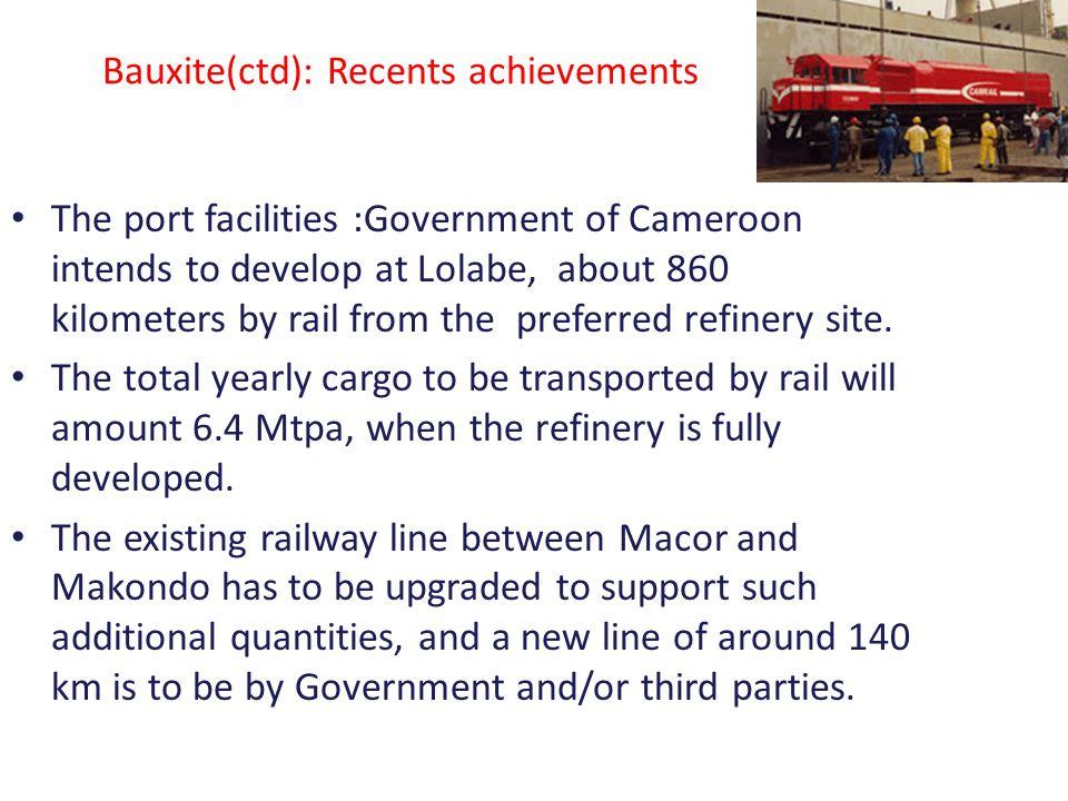 Bauxite(ctd): Recents achievements