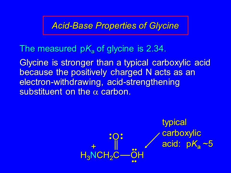 Acid-Base Properties of Glycine