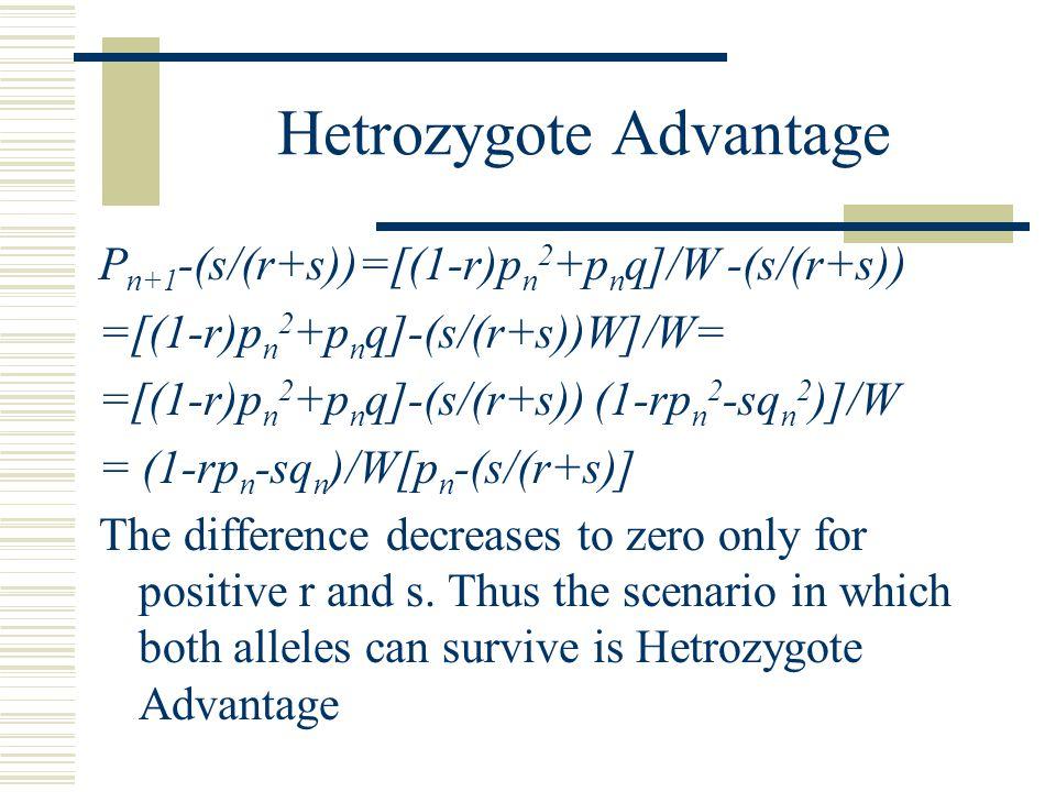 Hetrozygote Advantage