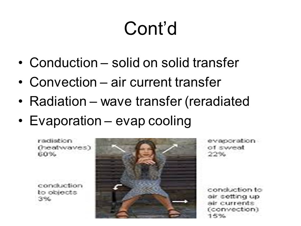 Cont'd Conduction – solid on solid transfer