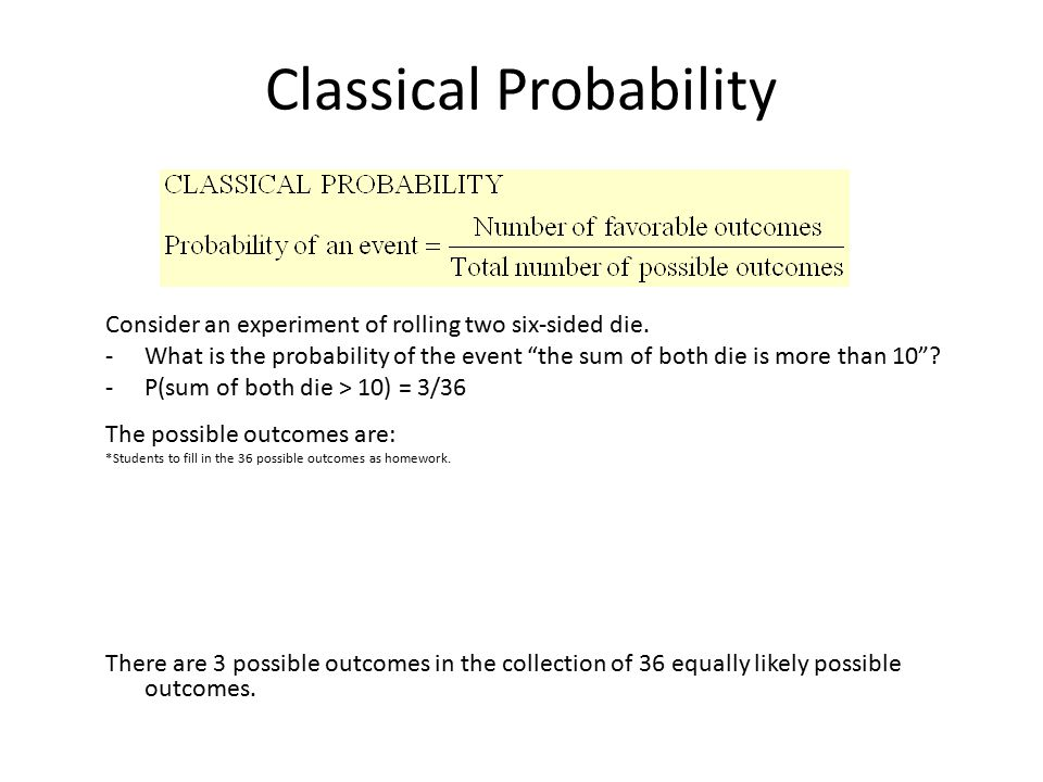 classical probability