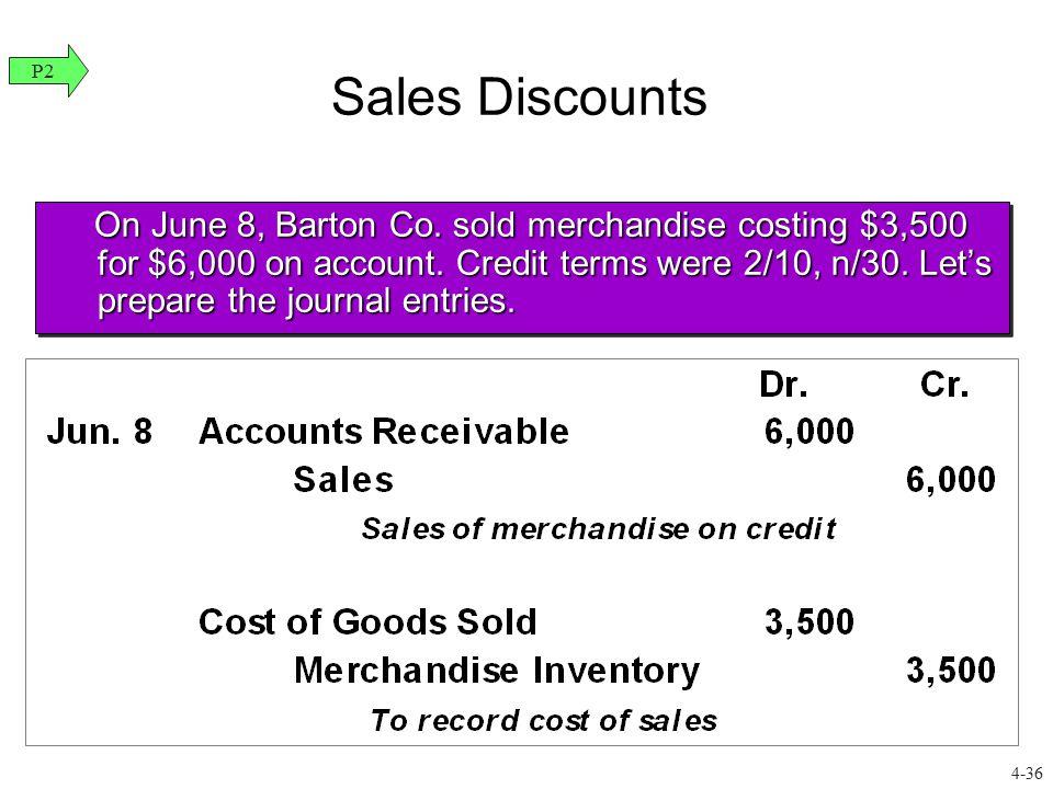 Sales Discounts P2.