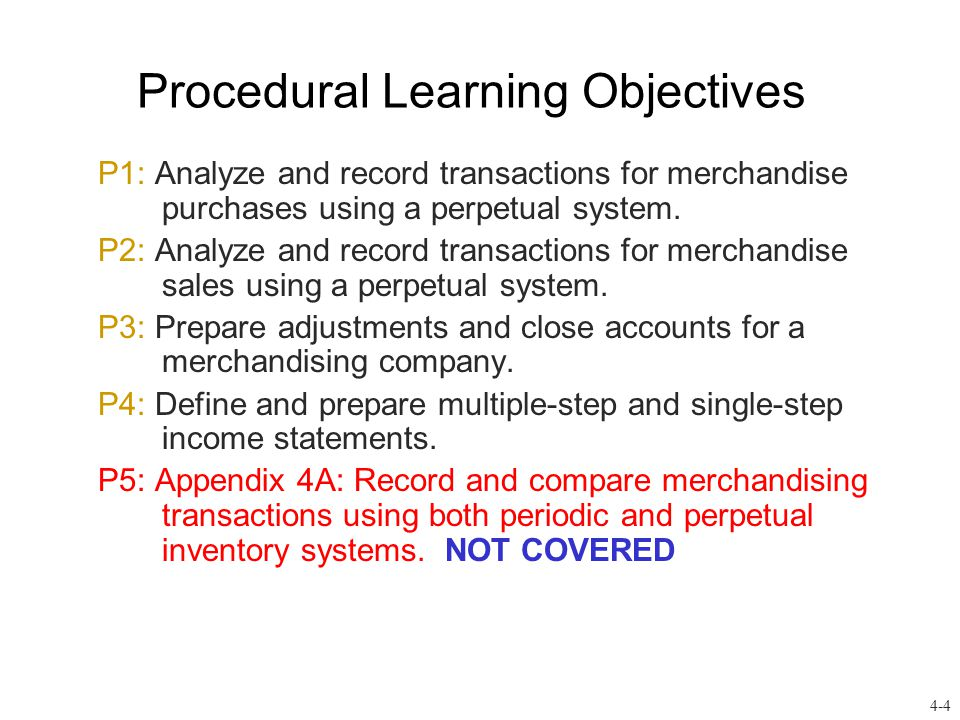 Lesson 5: Accounting for Merchandising Operations