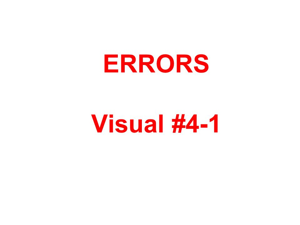 ERRORS Visual #4-1