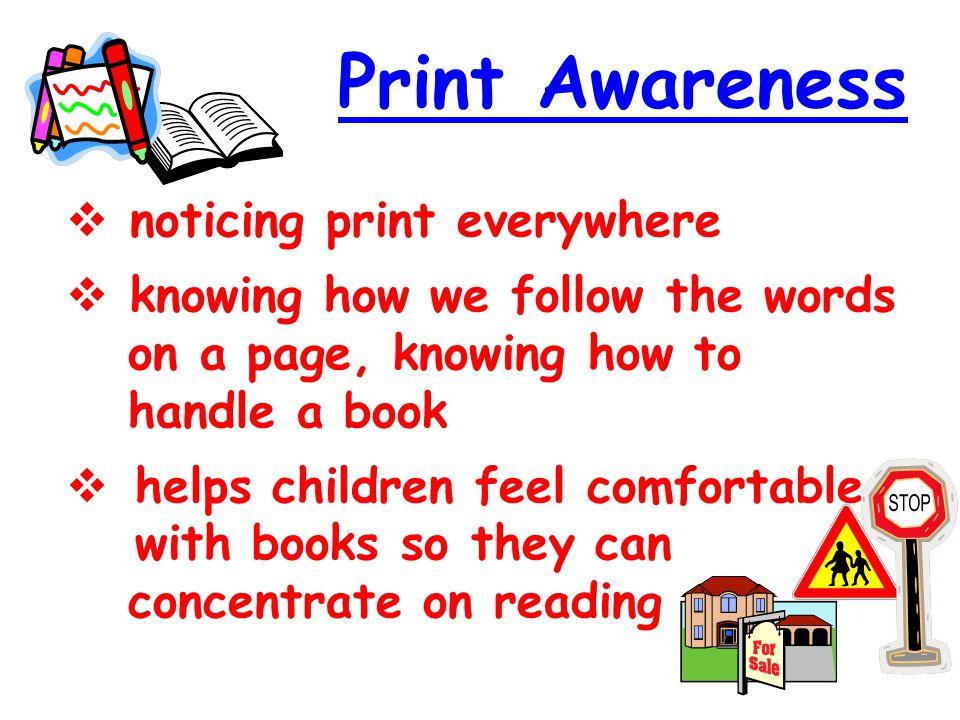 Print Awareness noticing print everywhere