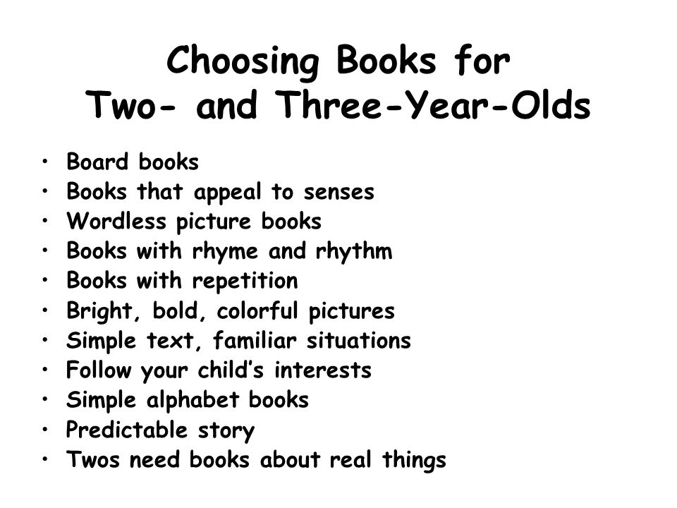 Choosing Books for Two- and Three-Year-Olds