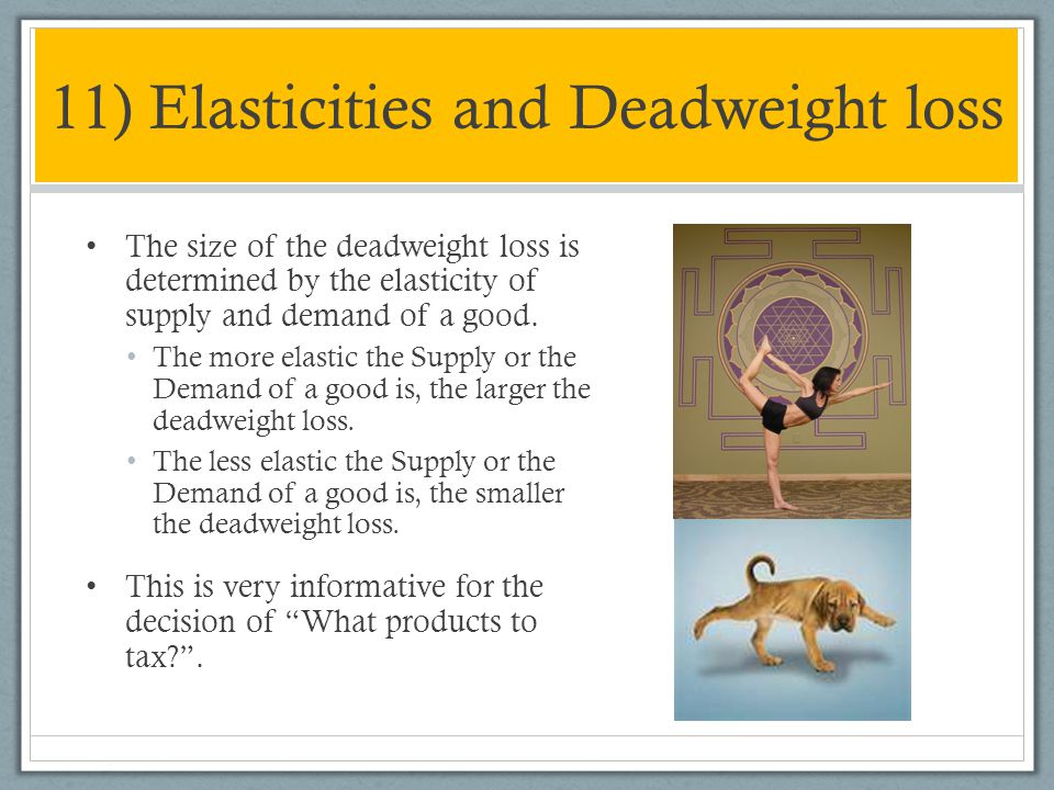 11) Elasticities and Deadweight loss