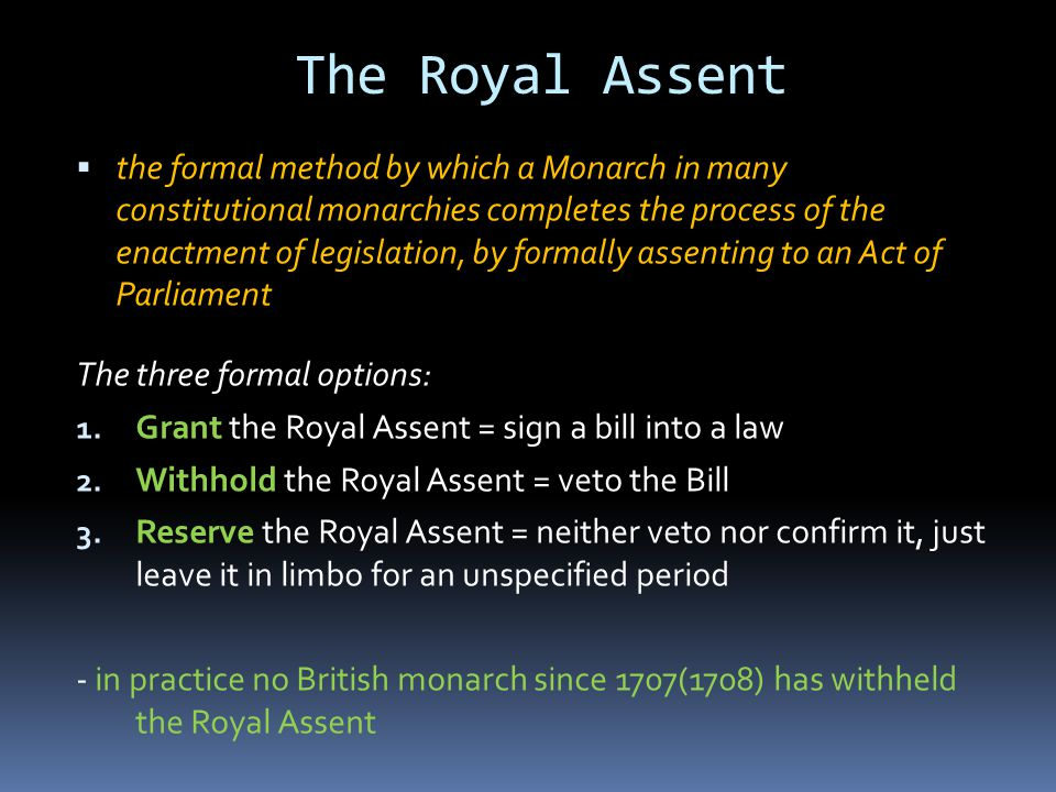 The Royal Assent