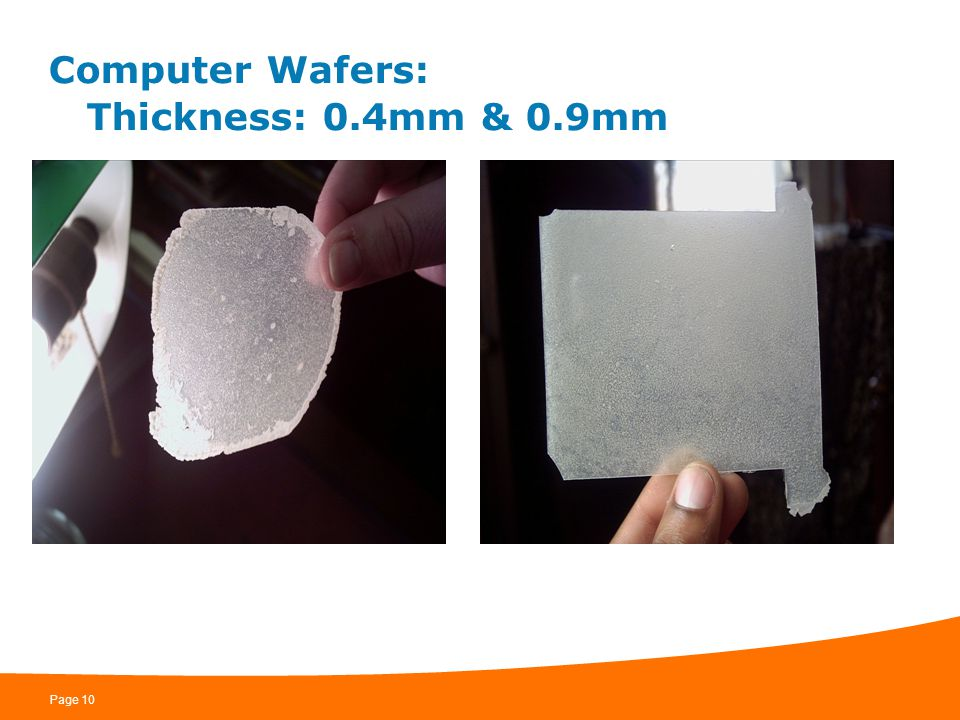 Computer Wafers: Thickness: 0.4mm & 0.9mm