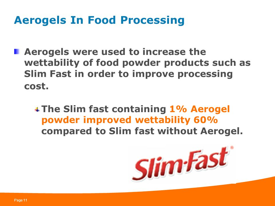Aerogels In Food Processing