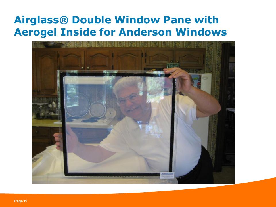Airglass® Double Window Pane with Aerogel Inside for Anderson Windows