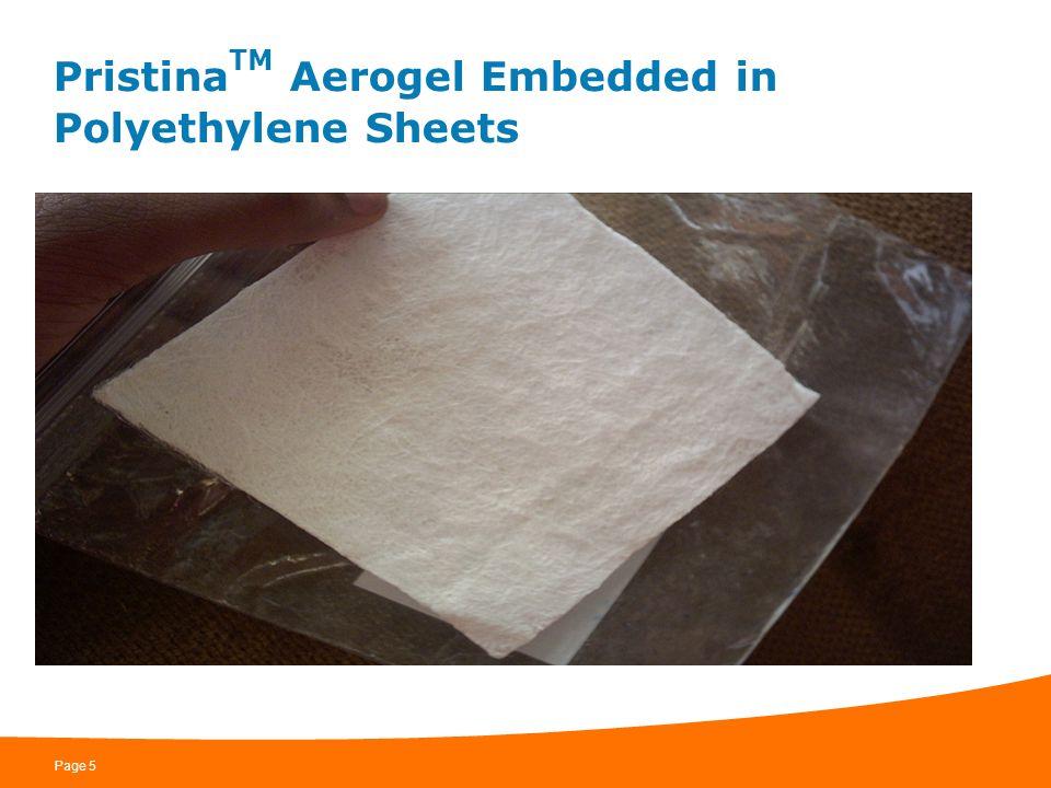 PristinaTM Aerogel Embedded in Polyethylene Sheets