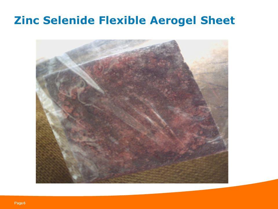 Zinc Selenide Flexible Aerogel Sheet