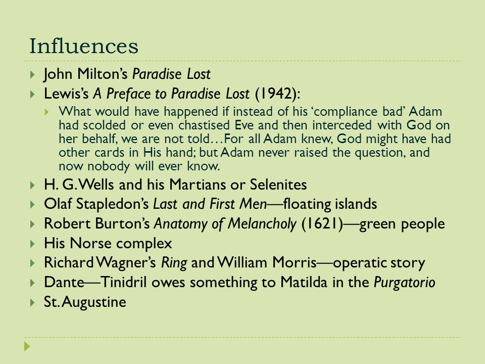 Influences John Milton's Paradise Lost