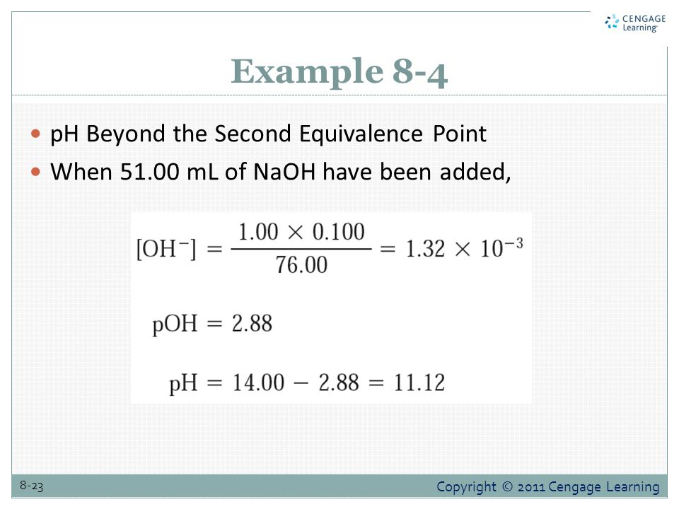 Example 8-4 pH Beyond the Second Equivalence Point