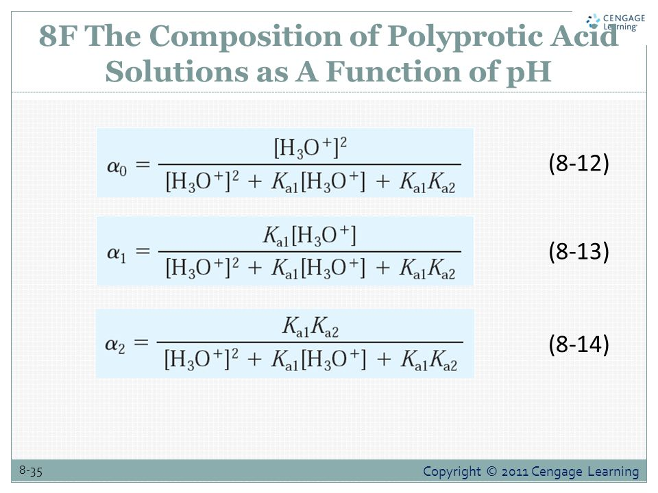 8F The Composition of Polyprotic Acid Solutions as A Function of pH