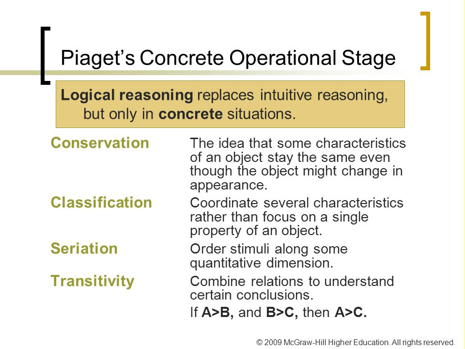 Piaget's Concrete Operational Stage